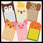 Animal flashcards on pupil cubs